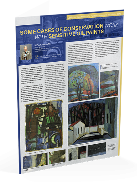 "Posteris ""Some cases of conservation work with sensitive oil paints"""