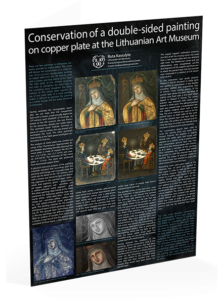 "Posteris ""Conversation of a double-sided painting on cooper plate at the Lithuanian Art Museum"""