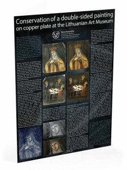 Conversation of a double-sided painting on cooper plate at the Lithuanian Art Museum